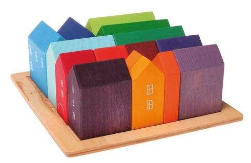 Kleine Häuser - Bauelementfamilie 4 x 4 cm