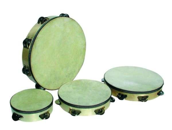 Goldon Tamburin 15 cm mit 4 Paar Schellen
