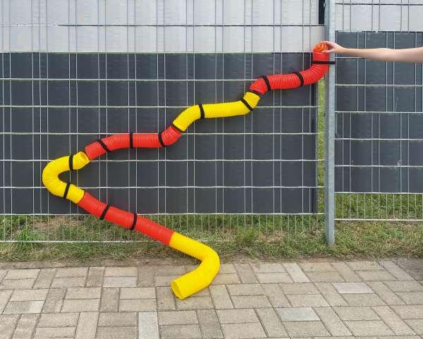 Bällebahn - Kugelbahn - selbst verbauen mit wiederverwendbaren Klettbändern - KiTa-Spielewelt