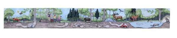 Bodenpuzzle - entdecke den Wald