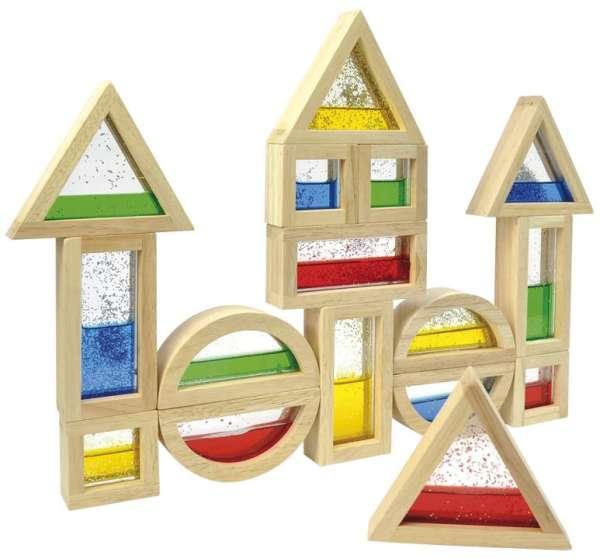 Bausteine gefüllt mit Glitter