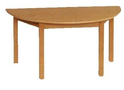 Tisch halbrund 120 x 60 cm in den Tischhöhen 42 - 76 cm