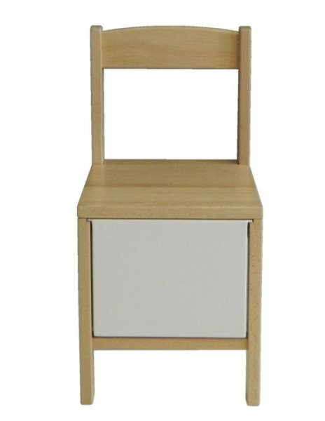Kindertrommelstuhl/ Stuhl mit herausnehmbarer Trommel, natur