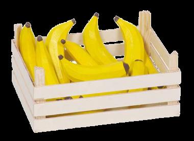 Bananen in Obstkiste Kaufladen- Zubehör
