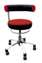 Sanus - Gesundheitsstuhl für Erzieherinnen in rot/schwarz