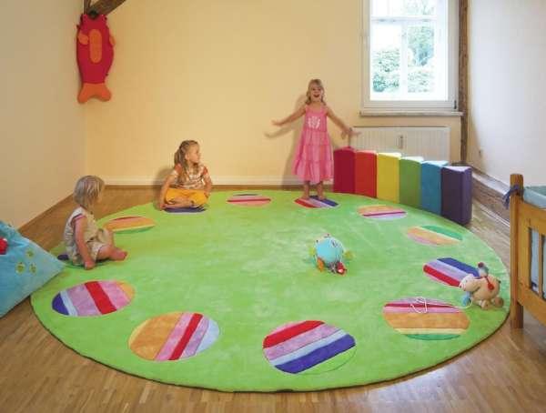 Spielteppich Circelino, rund, Ø 300 cm, für 12 Kinder