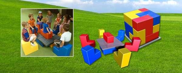 Kids & Bricks Großes Bausteinspiel aus 9 L-Blöcken - Riesenbausteine zum Bauen und Spielen - KiTa-Spielewelt