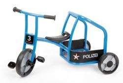 Winther Dreirad Polizei aktiv, blau