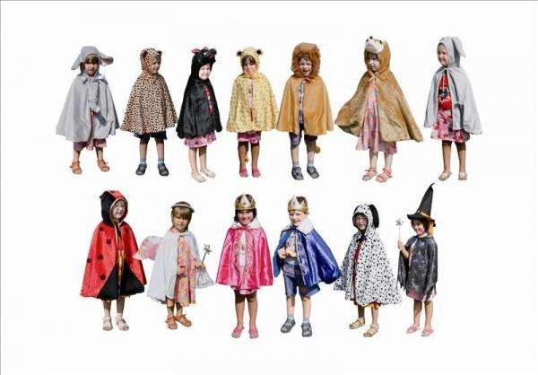 Kostüm-Set Tiere und Märchen für Kinder 13-teilig