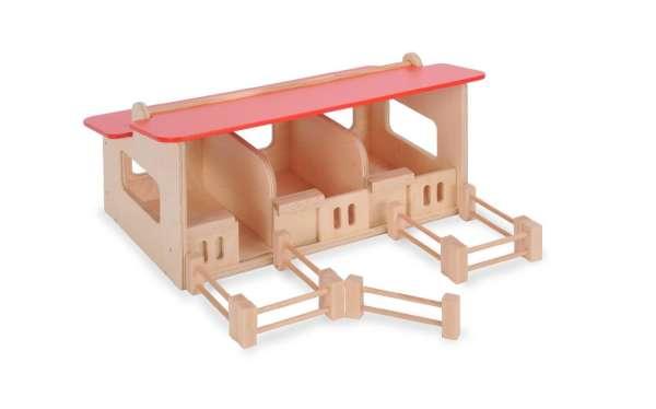 Pferdestall aus Holz mit Spielgut Auszeichnung