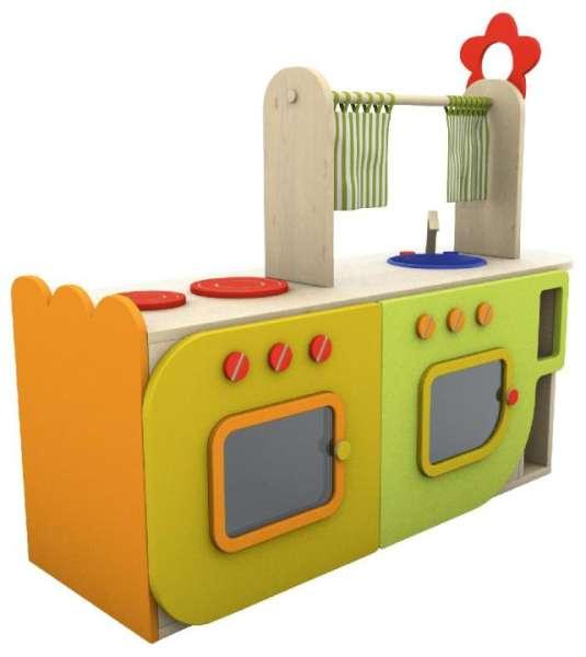 Kinderküche Holz, bunt