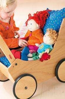 Puppenwagen natur