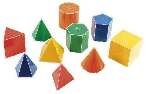 Geometrische Formen mit Folie 20-teilig
