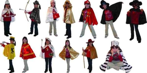 Kostüm-Set Berufe und Geschichten für Kinder 13-teilig