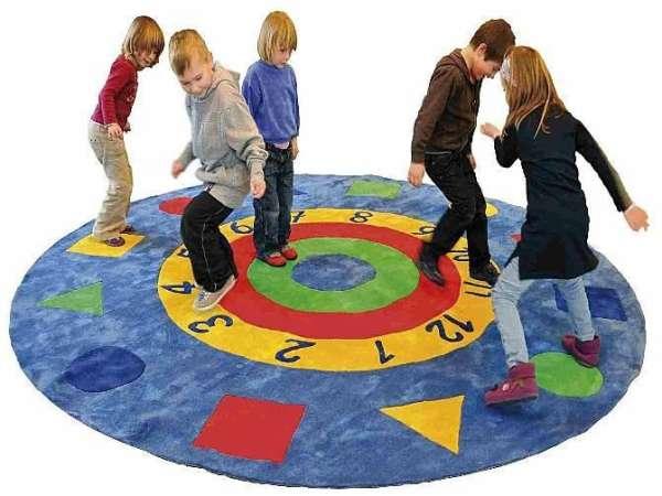 Zahlenteppich - Spielteppich, rund, Ø 300 cm