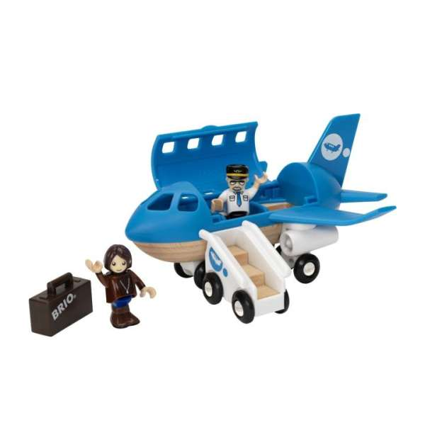 Blaues Flugzeug von Brio