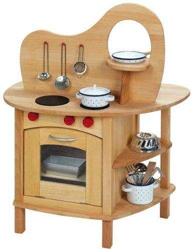 Beidseitig bespielbare Holz-Spielküche