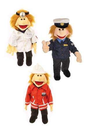 """Living Puppets Handpuppe """"Ricky Retter"""" 65 cm"""