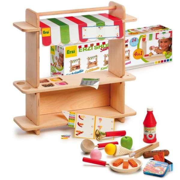 Erzi-Shop Summertime der 4 in 1 Shop - Grillbude, Eisstand, Kaufladen oder Küchenstudio