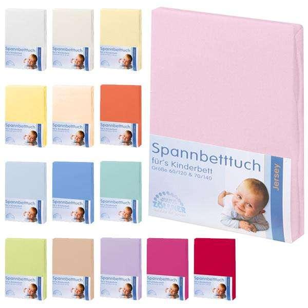 Jersey - Spannbettlaken 60x120 / 70x140 cm in 15 Farben