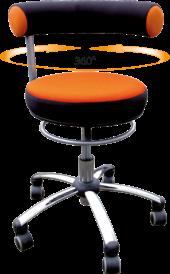 Sanus - Gesundheitsstuhl für Erzieherinnen in orange/schwarz