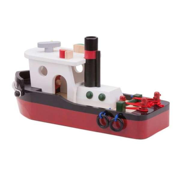 Schlepper - Schleppschiff aus Holz für Kinder, Rollenspiel