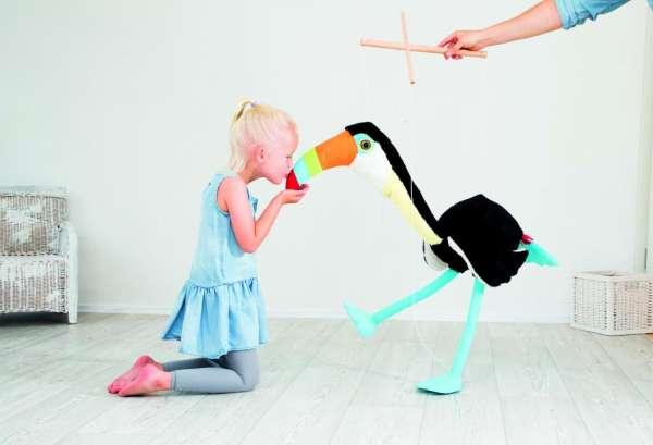 Marionette Tukan, Höhe 100cm