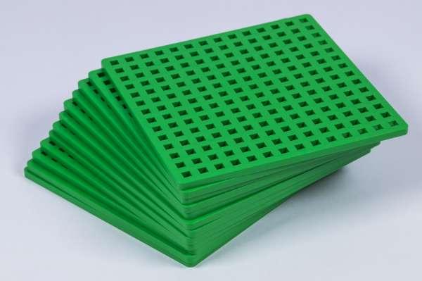 12 Bauplatten für PlusPlus mini grün