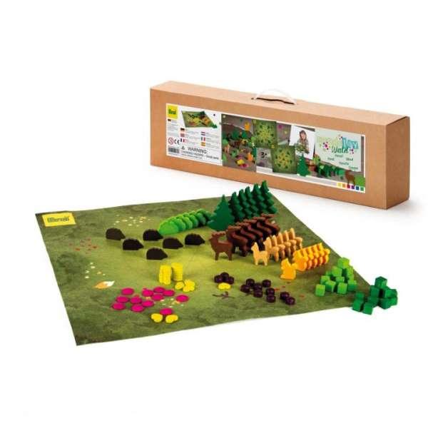 MandaLay Wald, 102 Spielsteine mit Vliesmatte für 1 - 2 Kinder, KiTa-Spielewelt