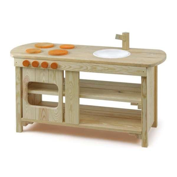 Spielküche Outdoor von Erzi - Kinderküche aus Holz - KiTa-Spielewelt