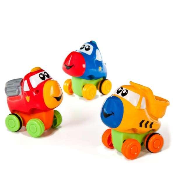 3 kleine Fahrzeuge - press & go für Kinder ab 12 Monaten