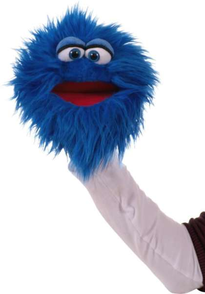 Living Puppets Handpuppe Quackelfritze blau