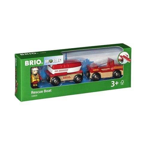Brio Feuerwehr - Boot mit Transporter
