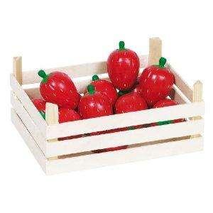 Erdbeeren in Obstkiste Kaufladen- Zubehör