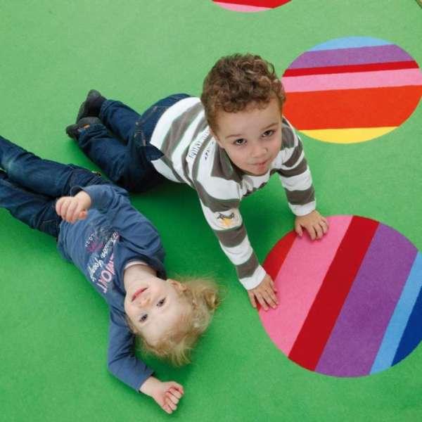 Spielteppich Circelino, rund, Ø 180 cm, für 6 Kinder