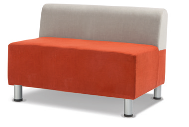 Relax Rechteck Sofa - mit Lehne in 2 Sitzhöhen