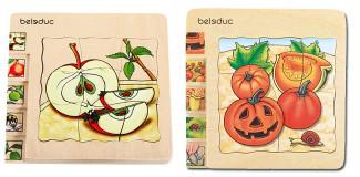 Lagen-Puzzle Apfel und Kürbis / Vorteilspackung
