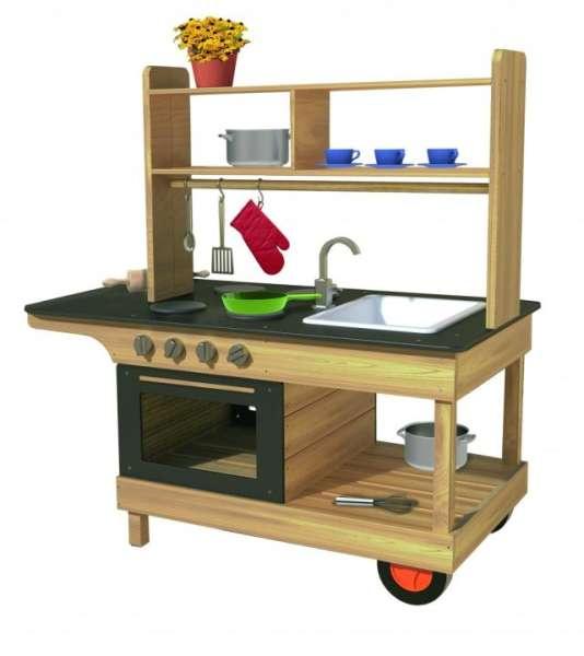 Mobile Matsch-Küche - Kinderküche mit vielseitigen und alltagsnahen Spielflächen - KiTa-Spielewelt