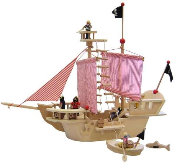 Piratenschiff mit 4 Piraten