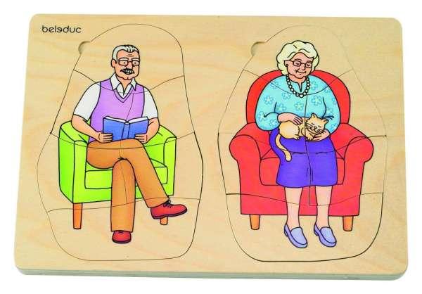 """Lagen-Puzzle """"Oma und Opa"""""""