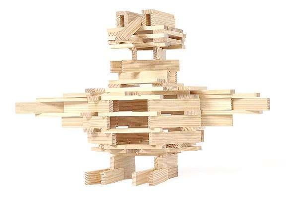 Kapla Bausteine 200 Stück in der Box