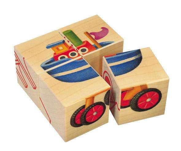 Selecta Bilder-Würfel-Puzzle Fahrzeuge