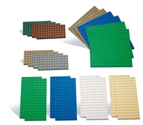 LEGO Bauplatten Set klein 22 Teile