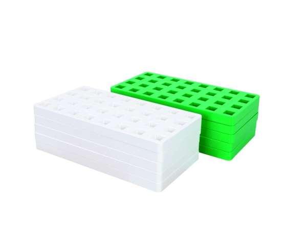 Plus Plus Bauplatten midi, 10 Stück im Set weiß und grün - KiTa-Spielewelt