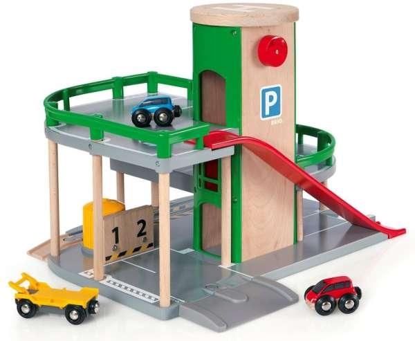 Brio Parkhaus Straßen und Schienen