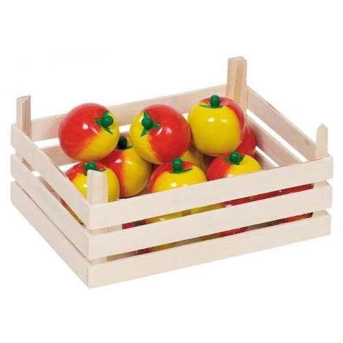 Äpfel in Obstkiste Kaufladen- Zubehör