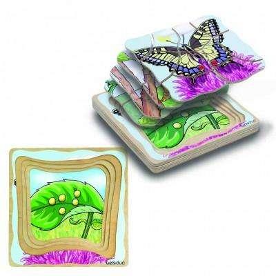 Lagen-Puzzle - Schmetterling