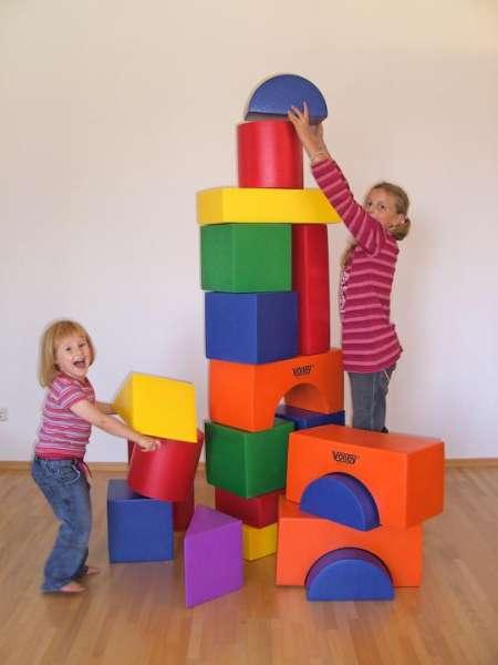 Großbausteine für Kinder aus hochwertigem Schaumstoff