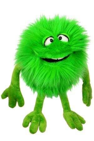 """Living Puppets """"Schlick"""" das kleine grüne Monster"""