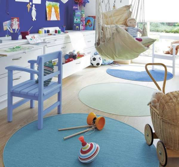 Tretford Teppich rund in 3 Größen und vielen Farben